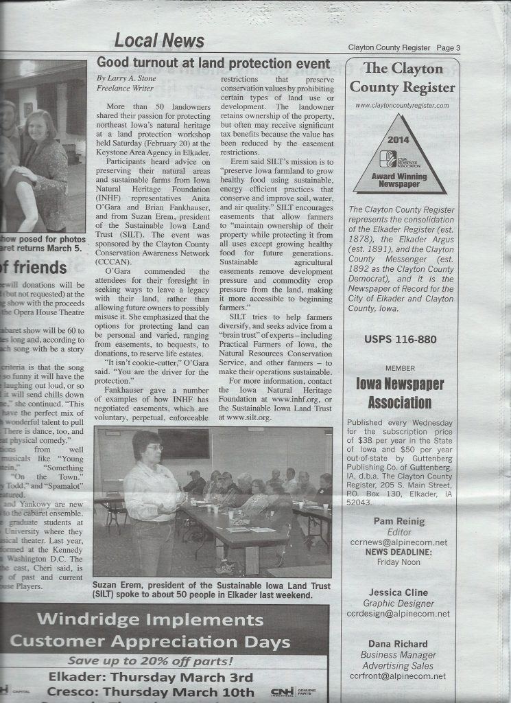land protection workshop news story