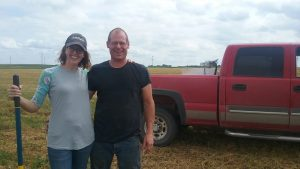 Shannan and Rod Potts at their SILT farm in Calhoun County